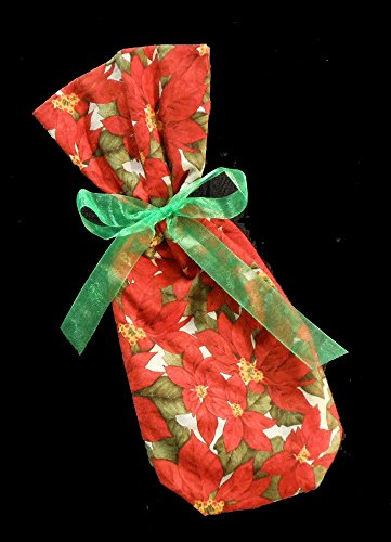 (Wine Gift Bag, Poinsettia 2)
