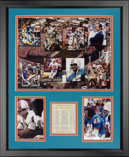 Legends Never Die 1972 Miami Dolphins - Mosaic Framed Photo Collage, 16