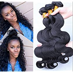OHMY 7A Unprocessed Brazilian Virgin Body Wave Human Hair Weave 1 Bundle 50G/Bundle 30inch