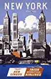 """TX114 Vintage New York Irish Airlines Travel Tourism Poster Re-Print - A4 (297 x 210mm) 11.7"""" x 8.3"""""""
