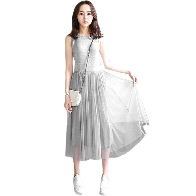 ZEVONDA Embarazo Vestido Lactancia Mujer - Moda Premamá Blusa Maternidad de Sin Mangas Chaleco Vestidos Verano: Amazon.es: Ropa y accesorios