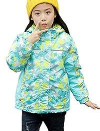 Zhhmeiruian Kids Waterproof Fleece Jacket Childrens Outwear Coat Windbreaker