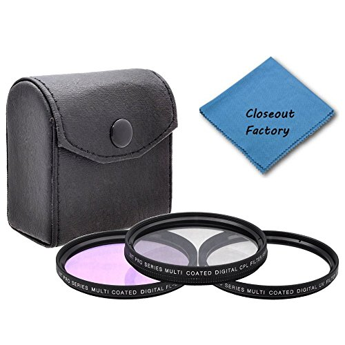 49mm Pro series Multi Coated HD 3 Pc. Digital Filter Set (UV-CPL-FLD) For SONY NEX-5N Camera Which Have The Sony E Series (16mm, 18-55mm, 50mm, 55-210mm, 30mm) Lens