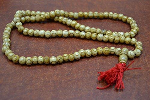 - 108 Pcs Tibetan Buddhist Bone Mala Prayer Beads