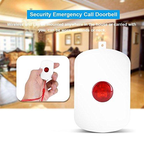Zerone 433MHz Wireless Home Security Emergency Siren Alarm, SOS Panic Button Alarm for WiFi GSM Home Security Alarm System with Red Chain by Zerone (Image #1)