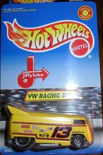 Hot Wheels VW Racing Bus Jiffy Lube / New & Sealed - RARE!!