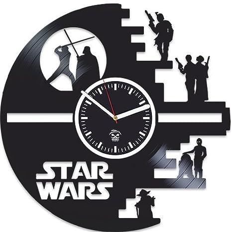 Amazon.com: Kovides, Star Wars reloj, vinilo grabado reloj ...