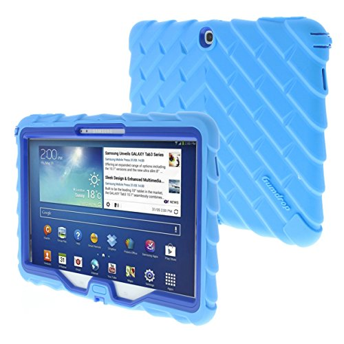 Samsung Tab 3 10 inch (2013) Drop Tech Light Blue Gumdrop Cases Rugged Shock Absorbing Protective Dual Layer
