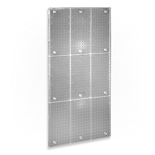 New Clear Frosted Plastic Pegboard Powerwing Display Wall Panel 24''w X 48''high by Pegboard