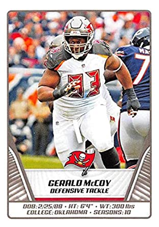 4489df4a Amazon.com: 2019 NFL Stickers Collection #474 Gerald McCoy Tampa Bay ...