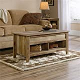 Pemberly Row Lift Top Coffee Table in Craftsman Oak