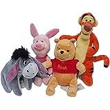 Disney Winnie The Pooh 4 Pack Mini Plush- Winnie, Tigger, Eeyore, and