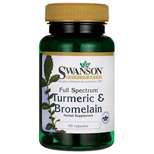 Cheap Swanson Full Spectrum Turmeric & Bromelain 60 Caps