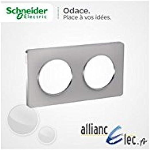 Schneider Electric SC5S52C806 Plaque 3 postes Odace Touch Liser/é blanc
