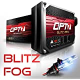 OPT7 Blitz 25w H11 (H8, H9) Fog Light HID Kit - Relay Bundle - All Bulb Sizes and Colors - 2 Yr Warranty [6000K Lightning Blue Xenon]