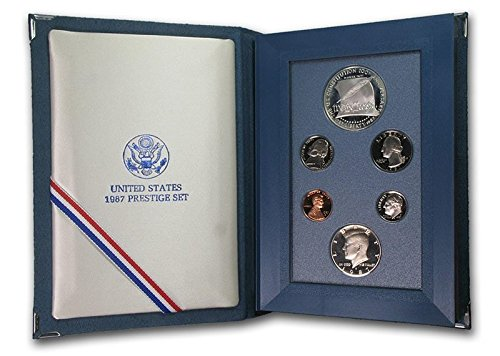 1987 S Prestige Proof Set in Original US Mint Packaging Original Box 6 Coins Constitution Coins PR-01