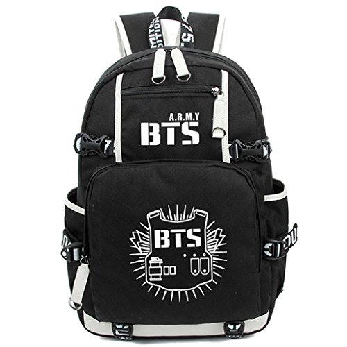 JUSTGOGO Luminous KPOP Bangtan Boys BTS Backpack Daypack Laptop Bag College Bag School Bag