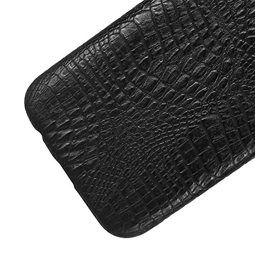 Funda Samsung Galaxy J5 2017, SunFay Funda Posterior Protector de PC Carcasa Back Cover de Parachoques Piel PU Protectora de Teléfono Para Samsung Galaxy J5 2017 - Rosa Negro