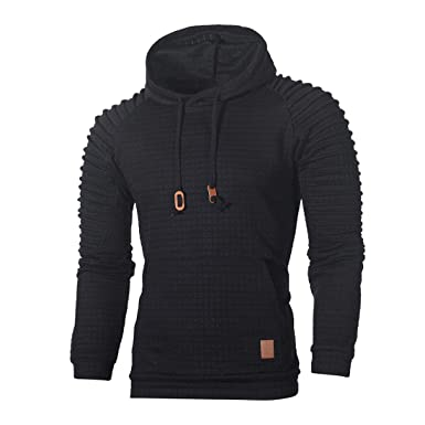 4a6d696b Rosennie Mens Hoodies,Men Autumn Winter Fashion Casual Tops Long Sleeve  Tracksuits Striped Set Sweatshirt