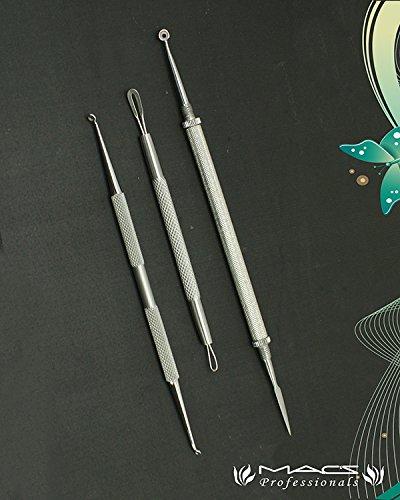 Lancet Extractor - Macs Care Blackhead Blemish Remover Clear Tool Acne Pimple Extractors Lancet Set Of 3 PCs Macs-2008P3