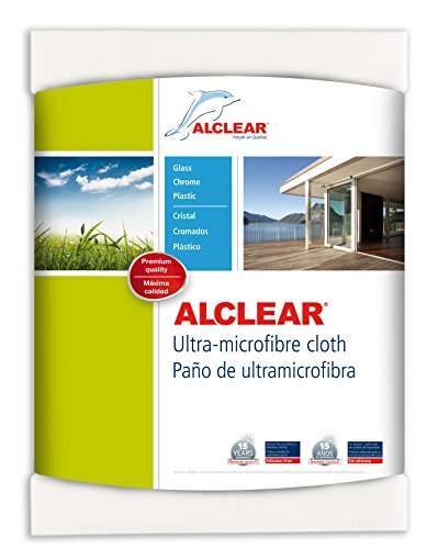 ALCLEAR 950002 Ultra-microfiber Cloth for Window, glass cleaning and clear water - nothing else! White. Size: 23.62 x 17.72 in.