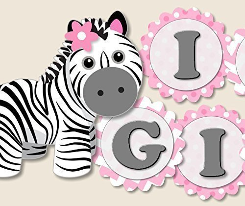 Zebra Baby Shower Decoration Supplies For Girl It S A Girl Baby