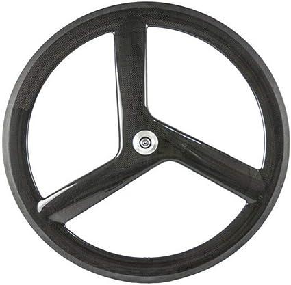 Fixed Gear Rear Wheel 700c Tri Spoke Rim Fixie Bicycle Rear White Wheel US SHIP