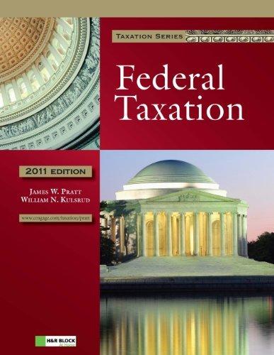 By James W.(James W. Pratt) Pratt, William N. Kulsrud: 2011 Federal Taxation (with H&R BLOCK At Home(TM) Tax Preparation Software CD-ROM) Fifth (5th) Edition pdf epub