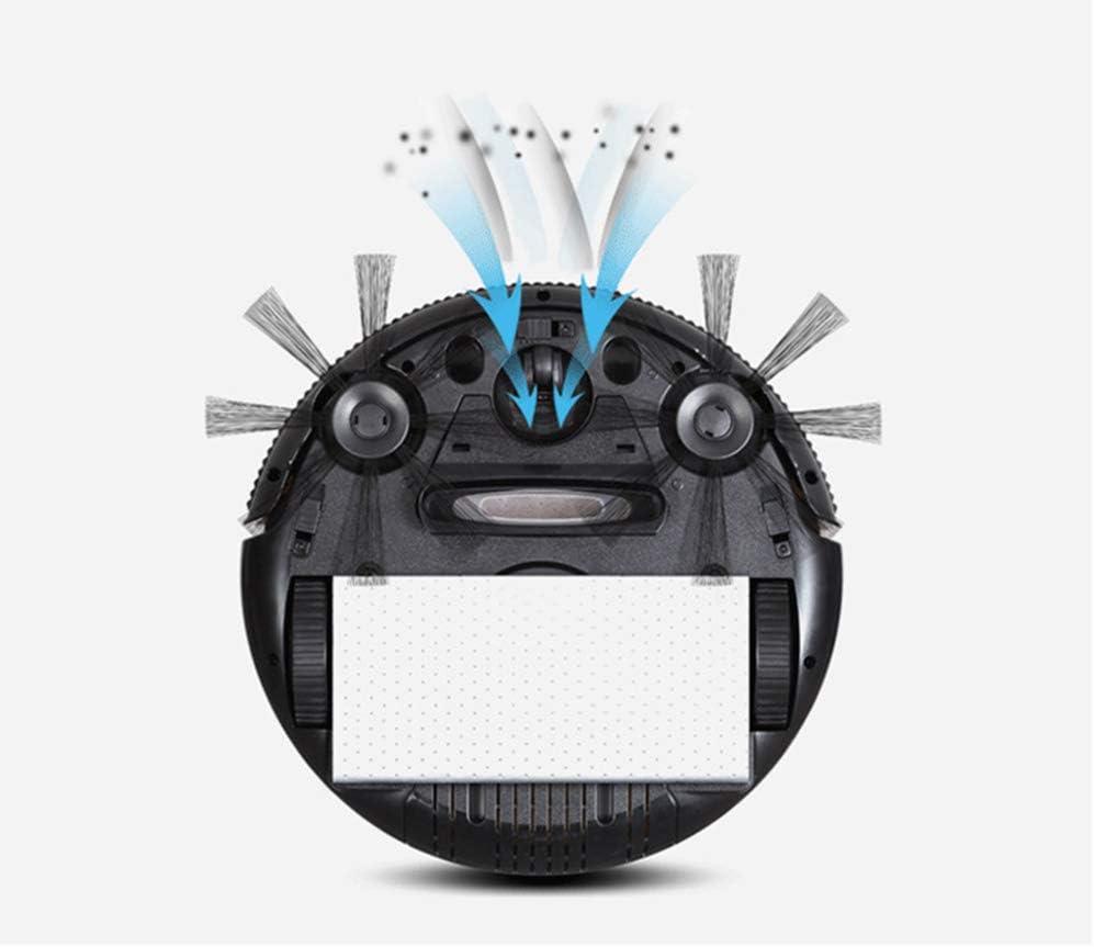 YENTARS Robot aspirateur Intelligente Balayage Aspiration et en Faisant Glisser la Machine de Lavage Automatique étage de Balayage Robot de Nettoyage,Violet Red