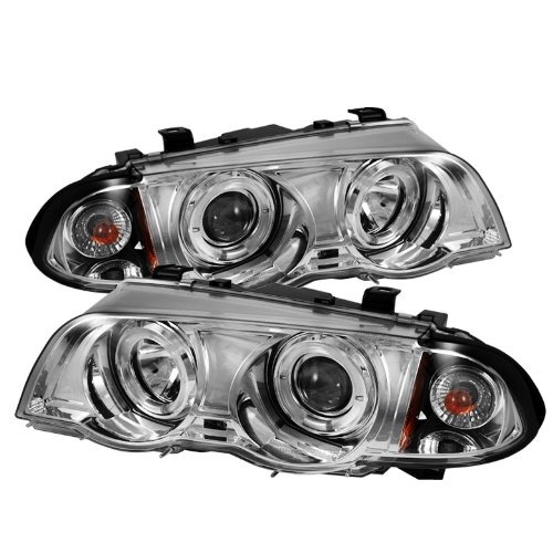 Series Led 4d 3 (Spyder Auto BMW E46 3-Series Chrome Halogen Amber Projector Headlight)