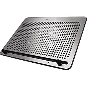 "Thermaltake Massive A21 Aluminum Panel Single 200mm Fan 10""-17"" Laptop Notebook Cooling Pad CL-N011-PL20BL-A"