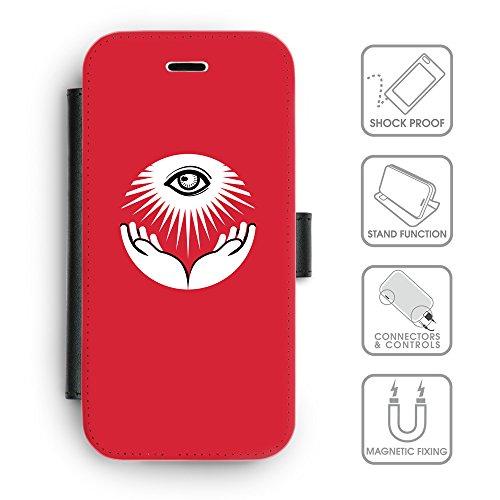 GoGoMobile Coque de Protection TPU Silicone Case pour // Q09060630 Œil Providence 16 Rose // Apple iPhone 5C