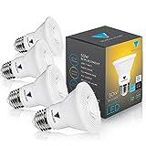 Triangle Bulbs (Pack Of 4) 7-Watt (50-Watt) PAR20 LED Flood Light Bulb, Dimmable, UL Listed, Energy star certified,