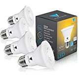 Triangle Bulbs T97001-4  (Pack Of 4) 7-Watt (50-Watt) PAR20 LED Flood Light Bulb, Dimmable, UL Listed, Energy star certified,