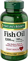 Nature\'s Bounty Fish Oil 1200 mg Omega-3, 200 Rapid Release Softgels