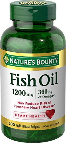 Natures Bounty Fish Oil  1200 Mg Omega 3  200 Rapid Release Softgels  Dietary Supplement For Supporting Cardiovascular Health 1