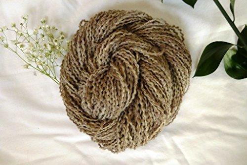 Sahara Camo Beige Tan Brown Tones Boucle Homespun Yarn
