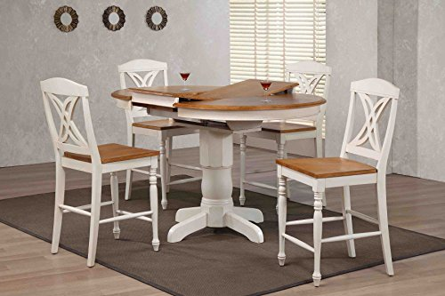 (Iconic Furniture Company Butterfly Back Counter Height 5 Piece Dining Set, 42
