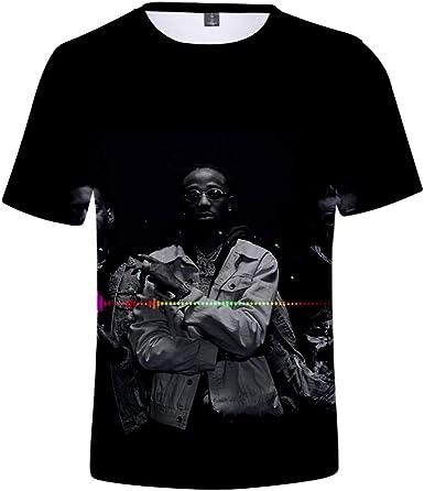 ZIJIN Rap Group Migos 3D Print Camiseta Hip Hop tee para Hombres y Mujeres de Manga Corta con Camisa Tops: Amazon.es: Ropa y accesorios
