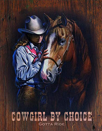 Desperate Enterprises Cowgirl by Choice Tin Sign, 12.5