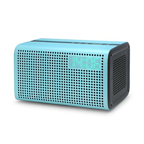 GGMM E3 Wireless Bluetooth Speaker, Multi Room Play Wifi Speaker with LED Clock, Alarm Setting, USB Charging Port, Stereo Sound Airplay Speaker