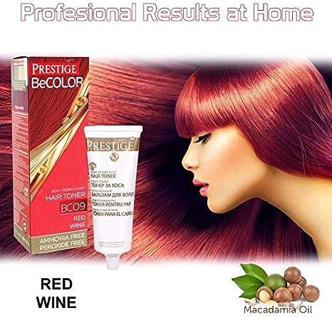 Vips Prestige - BeColor Tinte Semi Permanente Color Vino Tinto BC09, Sin Amoniaco Sin Peroxide