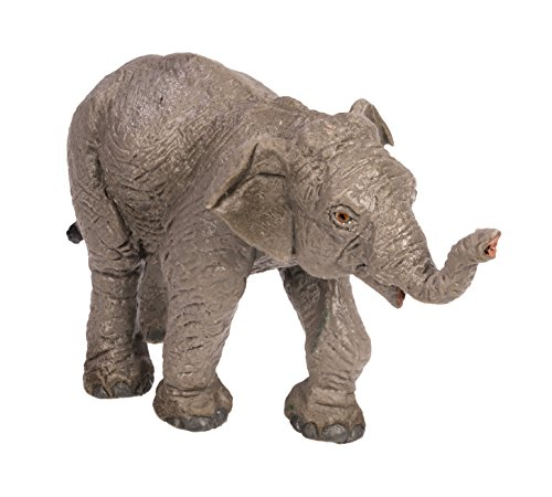 Safari Ltd. Wild Safari Wildlife - Asian Elephant Baby - Realistic Hand Painted Toy Figurine Model - Quality Construction from Safe and BPA Free Materials - for Ages 3 and Up