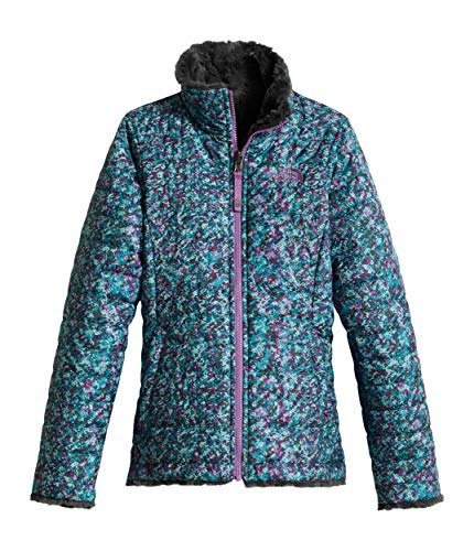 The North Face Girl's Reversible Mossbud Swirl Jacket - Bright Navy White Heather - 2XS (Past ()
