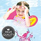 Nai-B K Star Arm Band Puddle Jumper. Learn to Swim with Life Aid Swimming Jacket for Kids & Toddlers While Having Fun. Cute Design Inflatable Floatation Vest for Pool, Beach & More. Up to 50lb.