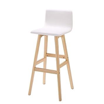 Qiangzi Modernas sillas de Madera Barra Simple Creativa Taburete ...
