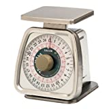 Taylor Food Service Stainless Steel Analog Portion Control Scale, 25-Pound by Taylor Thermometers