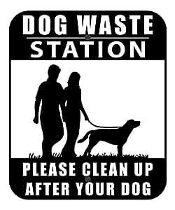 Sign mascota Residuos estación–negro