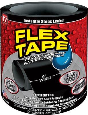 Flex Tape Black 4' x 5'