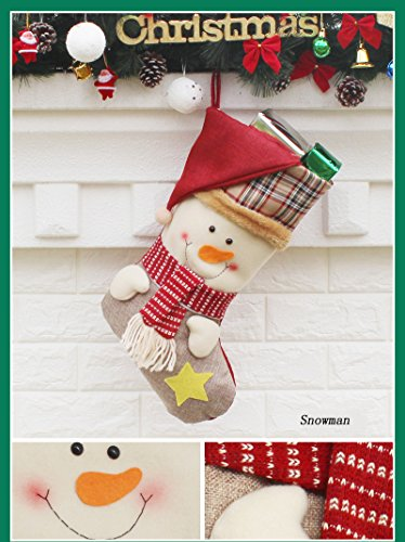 AnciTac Christmas Stockings Hanging Set 17'' Large Bags, Bulk Stocking Kit for Xmas Tree or Fireplace Decoration(Type A) by AnciTac (Image #3)